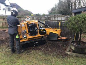 Tree Stump Grinding Machine